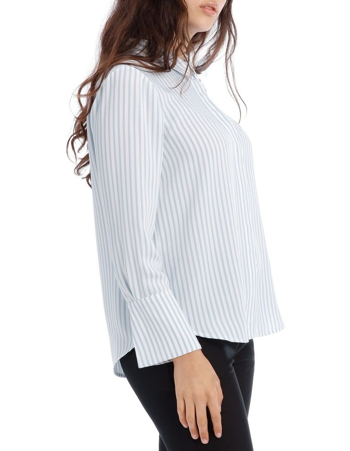 Blue Stripe Work Shirt image 2