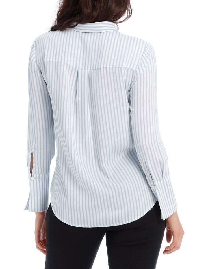Blue Stripe Work Shirt image 3