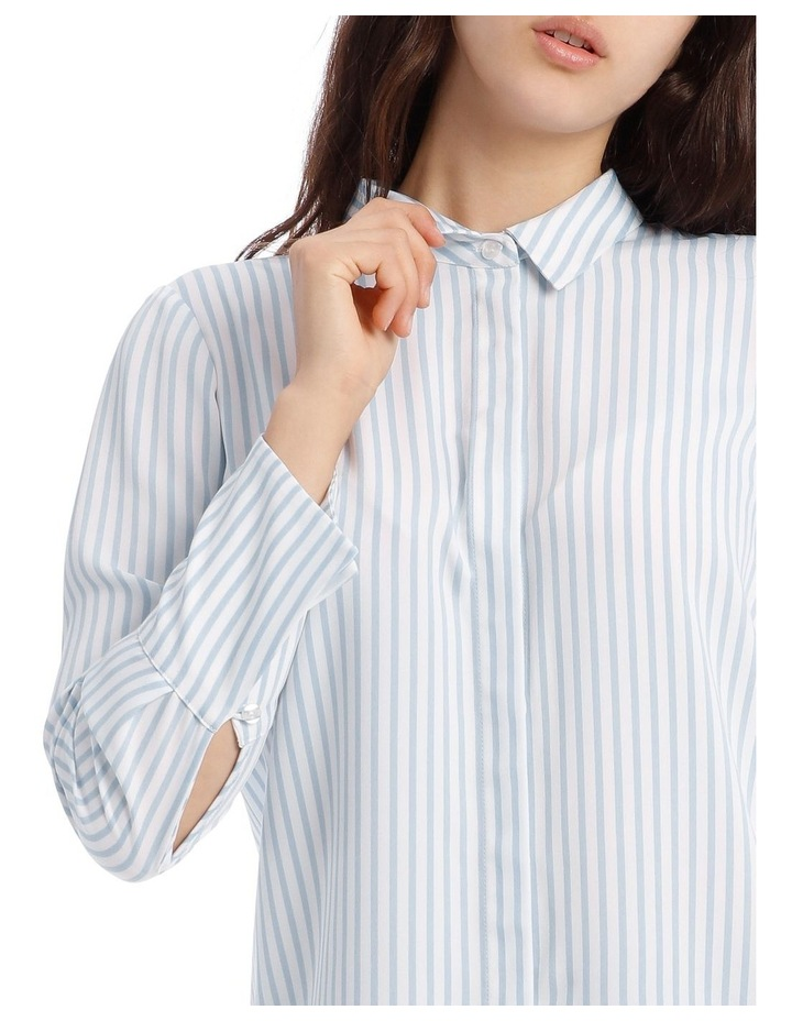 Blue Stripe Work Shirt image 4