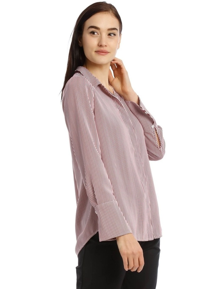 Burgundy Stripe Work Shirt image 2