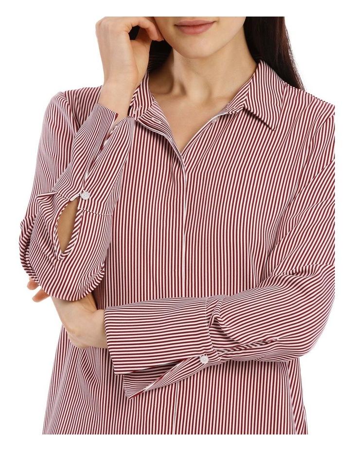 Burgundy Stripe Work Shirt image 4