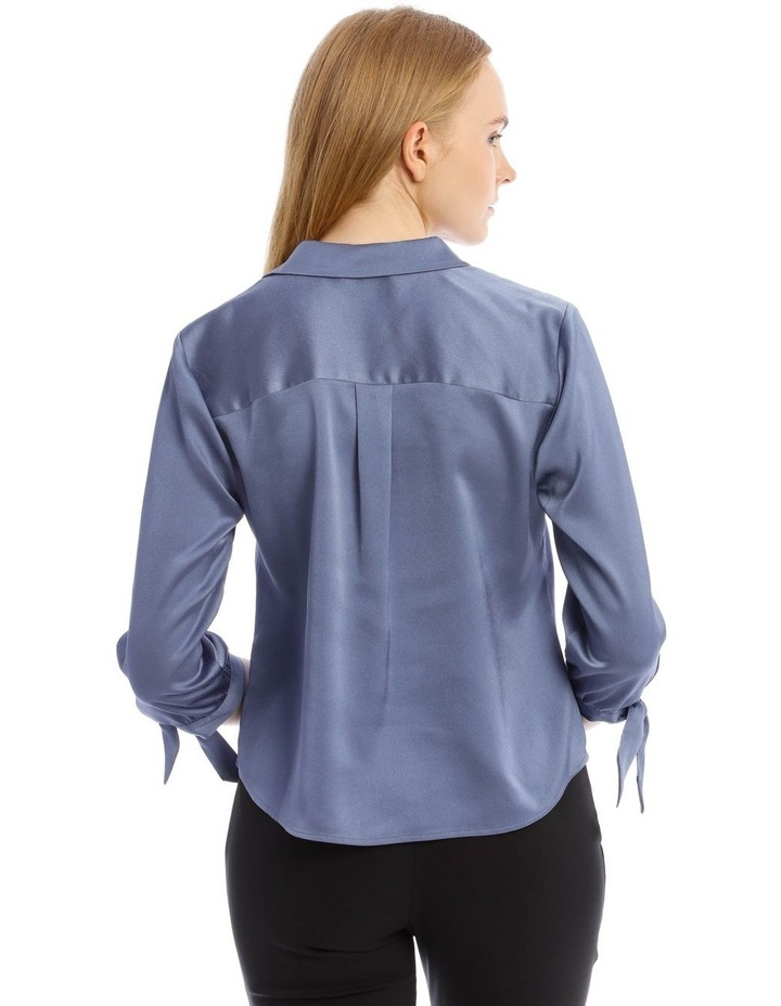 Tie Sleeve Satin Shirt image 3