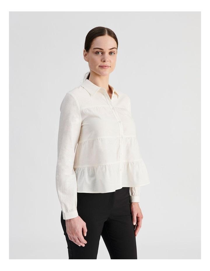 Petite Linen Blend Tiered Shirt image 2