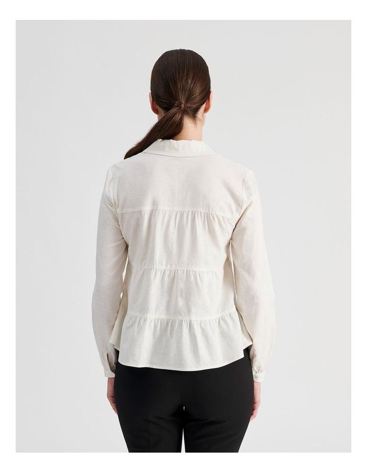 Petite Linen Blend Tiered Shirt image 3