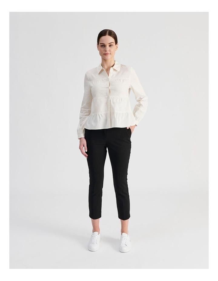 Petite Linen Blend Tiered Shirt image 4