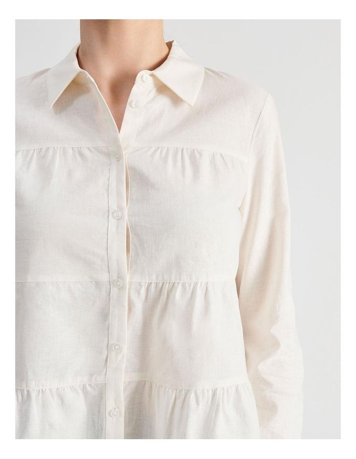 Petite Linen Blend Tiered Shirt image 5