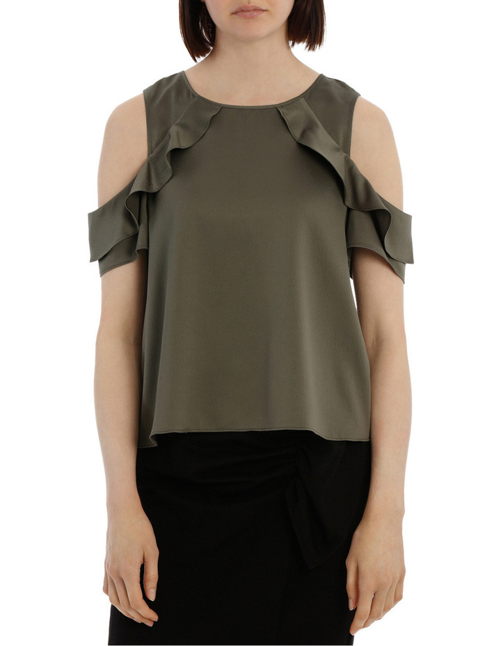 Cold Shoulder With Ruffle image 1
