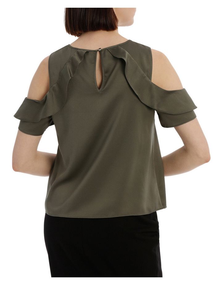 Cold Shoulder With Ruffle image 3