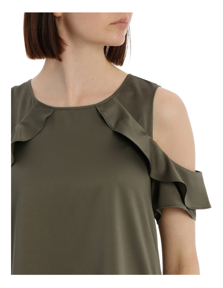 Cold Shoulder With Ruffle image 4