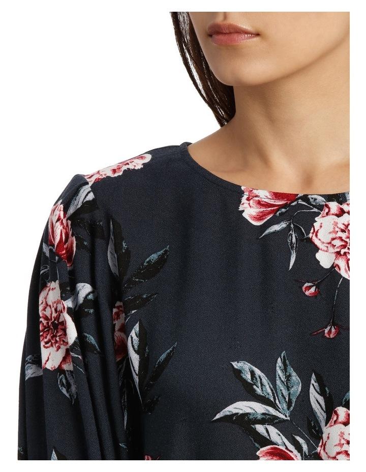 Tie Sleeve Shell Top - Peony Bloom image 4