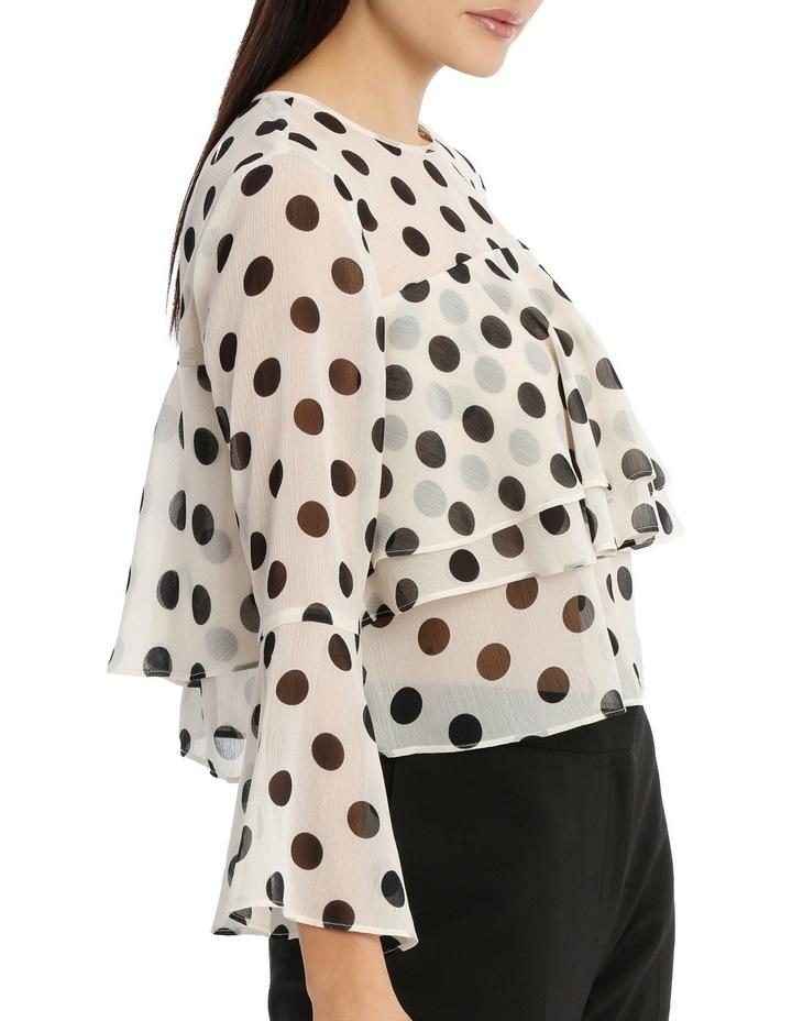 Tiered Chiffon Blouse - Polka Dot image 2