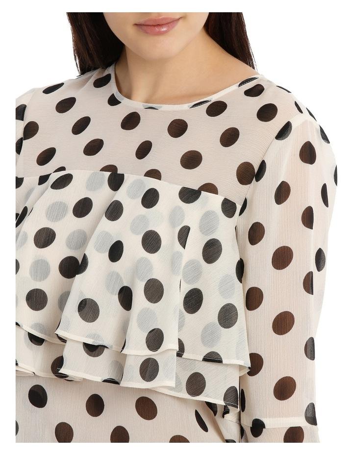Tiered Chiffon Blouse - Polka Dot image 4