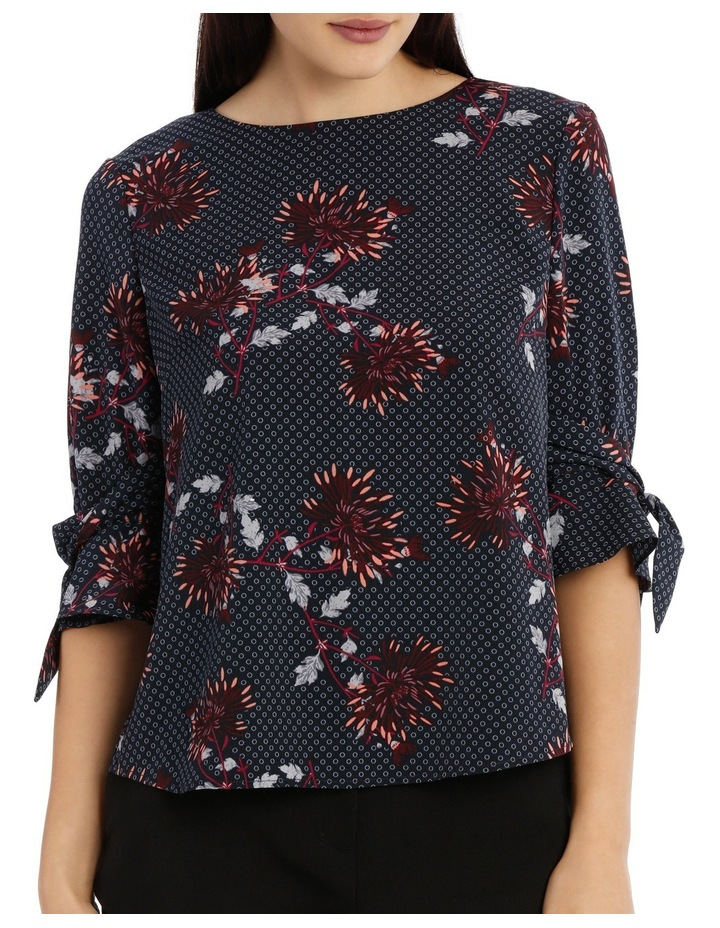 Tie Sleeve Top - Burst Bloom image 1