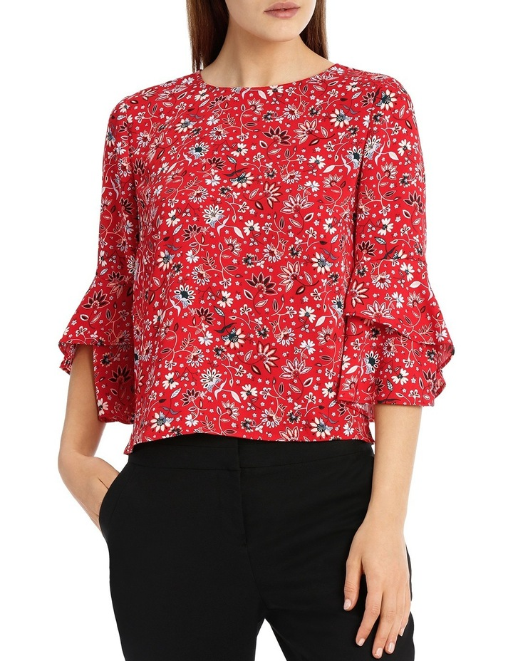 Statement Sleeve Shell Top - Paisley image 1