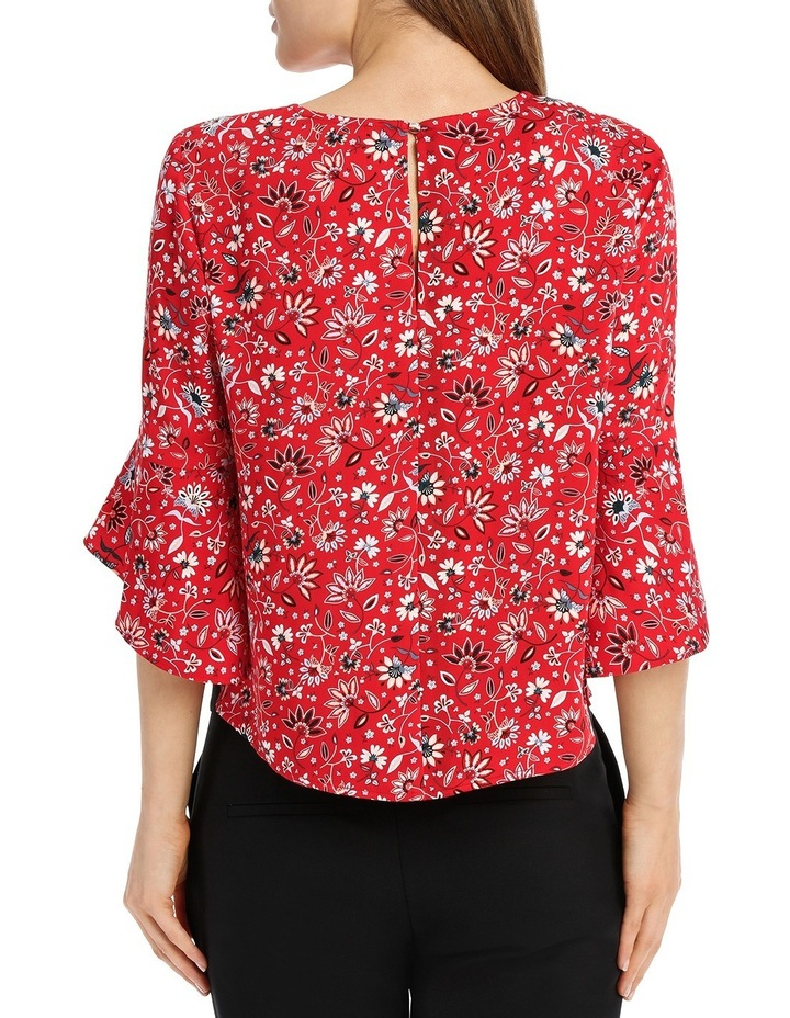 Statement Sleeve Shell Top - Paisley image 3