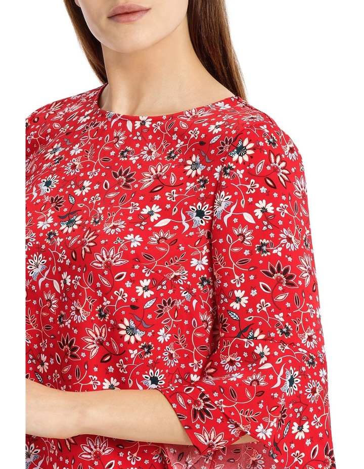 Statement Sleeve Shell Top - Paisley image 4