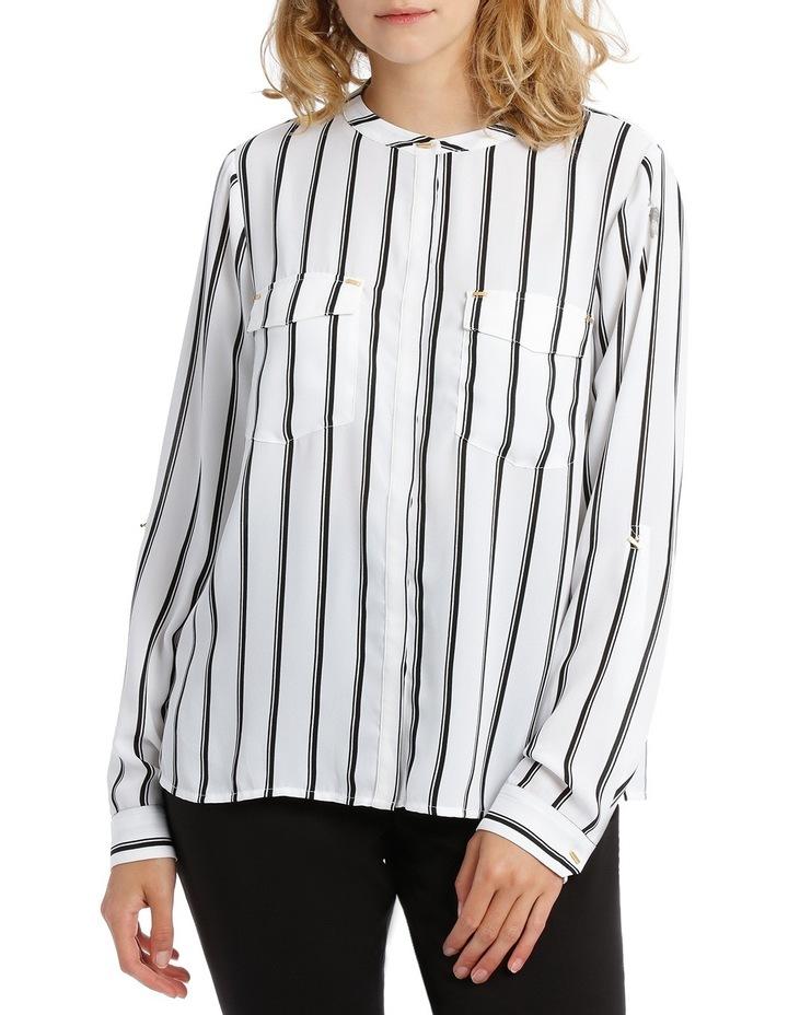 Double Pocket Hardware Shirt - Fine Stripe image 1