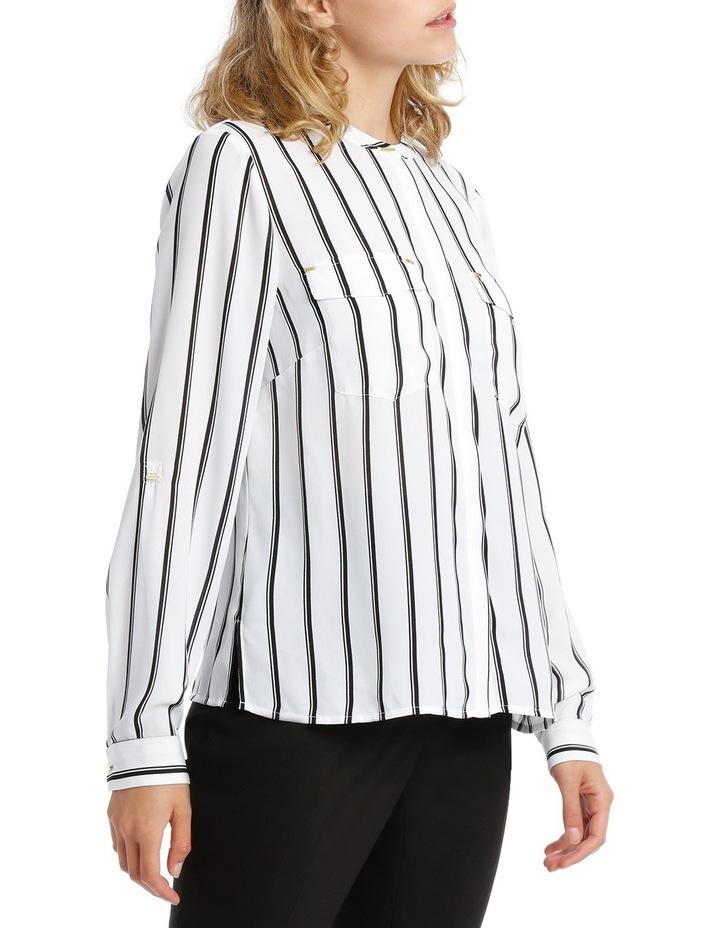Double Pocket Hardware Shirt - Fine Stripe image 2