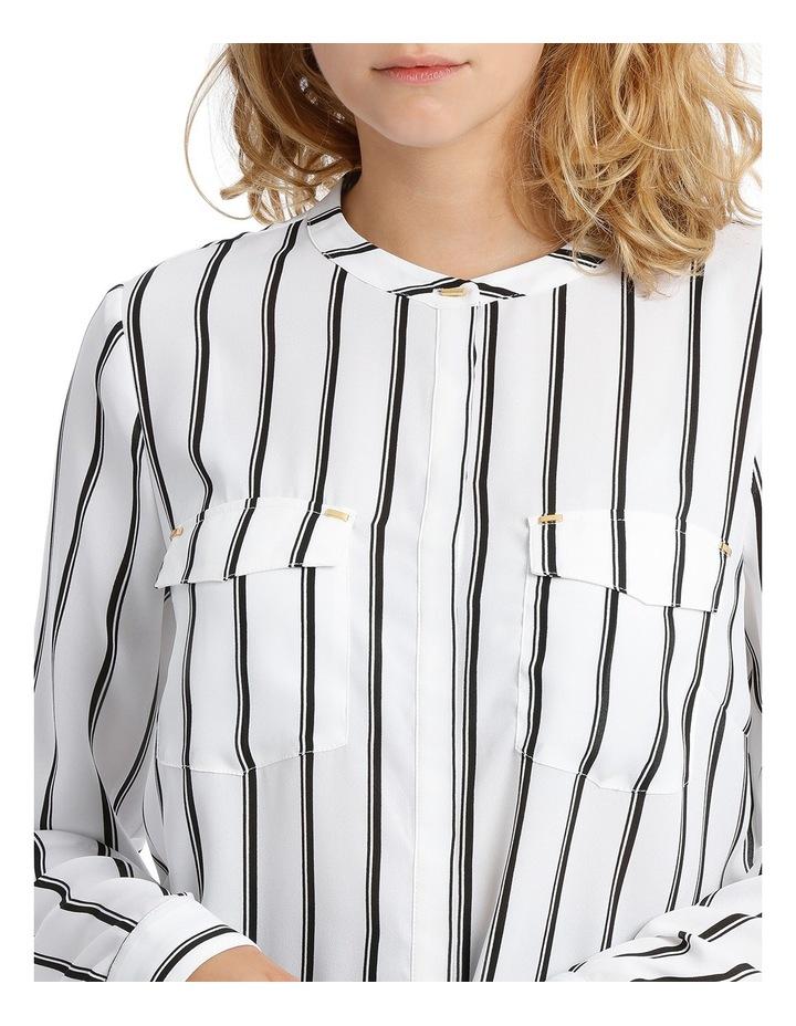 Double Pocket Hardware Shirt - Fine Stripe image 4