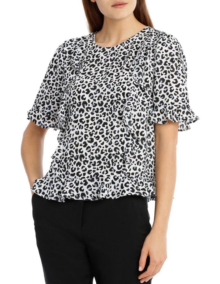 Frill Front Top - Ocelot image 1