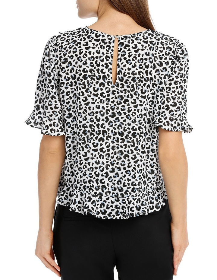 Frill Front Top - Ocelot image 3