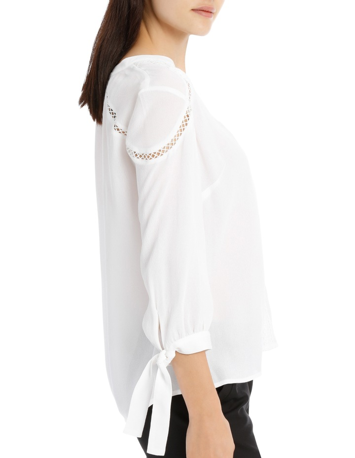 Lace Insert Top - White image 2