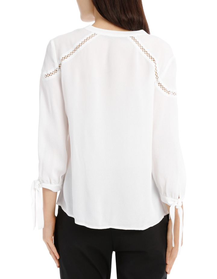 Lace Insert Top - White image 3