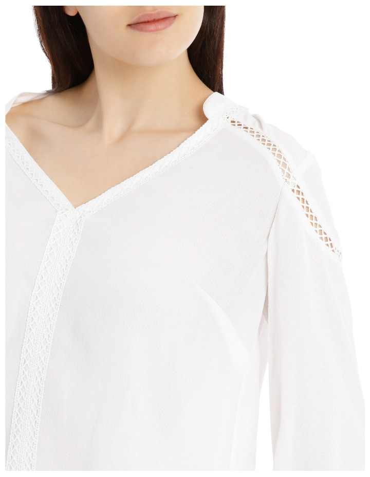 Lace Insert Top - White image 4