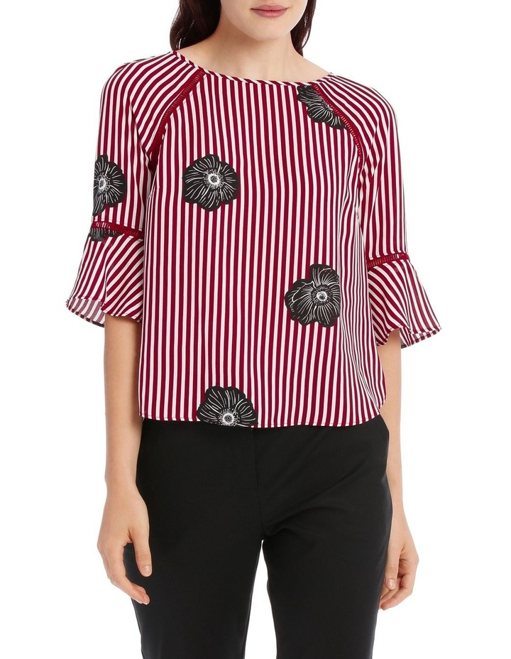 Lace Insert Top - Stripe Floral image 1