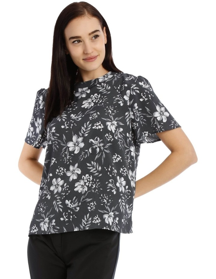 Tropical Floral High Neck Top image 1