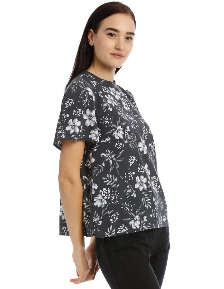 Tropical Floral High Neck Top image 2