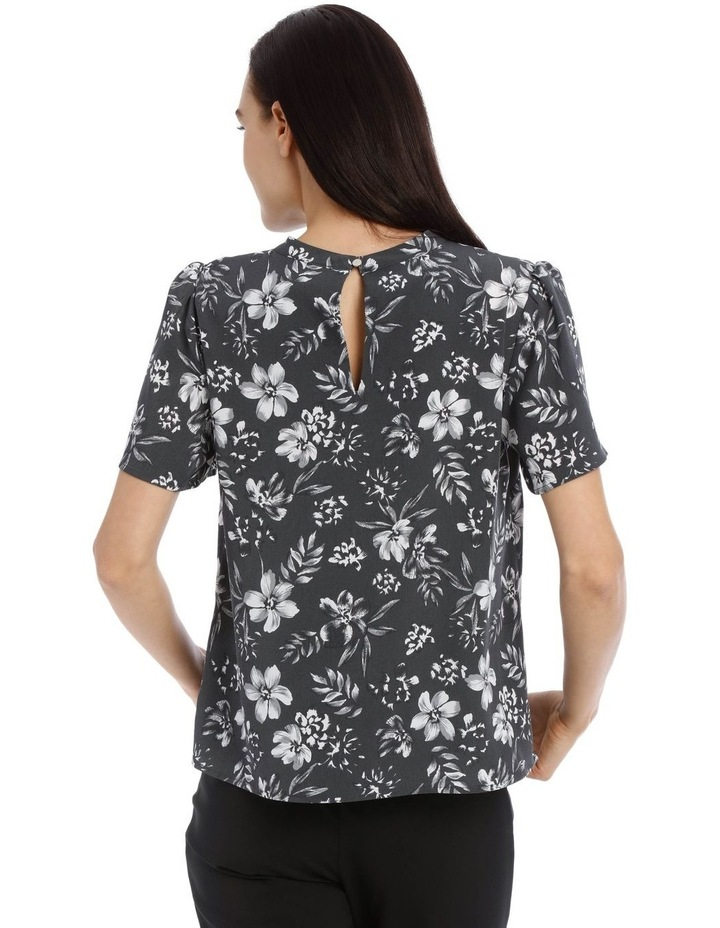 Tropical Floral High Neck Top image 3