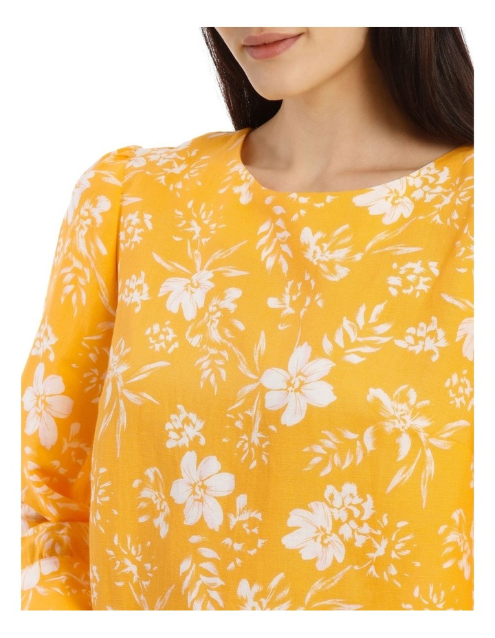 Linen Puff Sleeve Top - Tropical Floral image 4