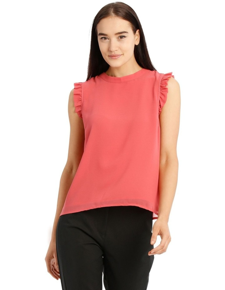 High Neck Pleat Sleeve Top image 1