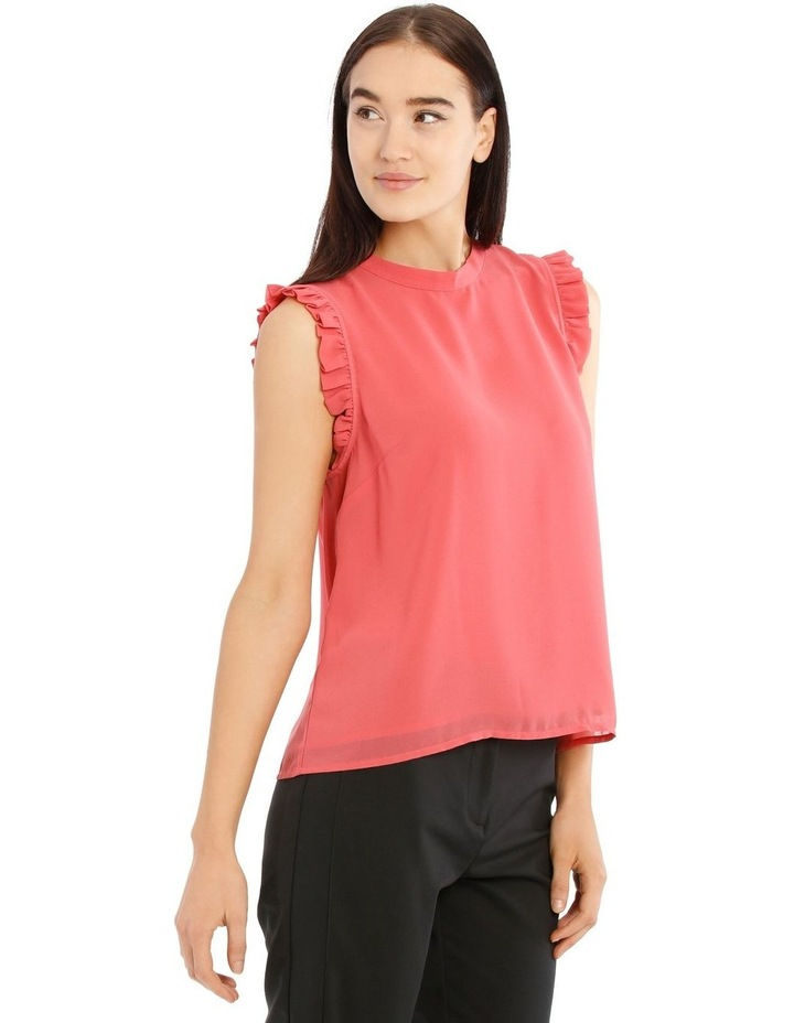 High Neck Pleat Sleeve Top image 2