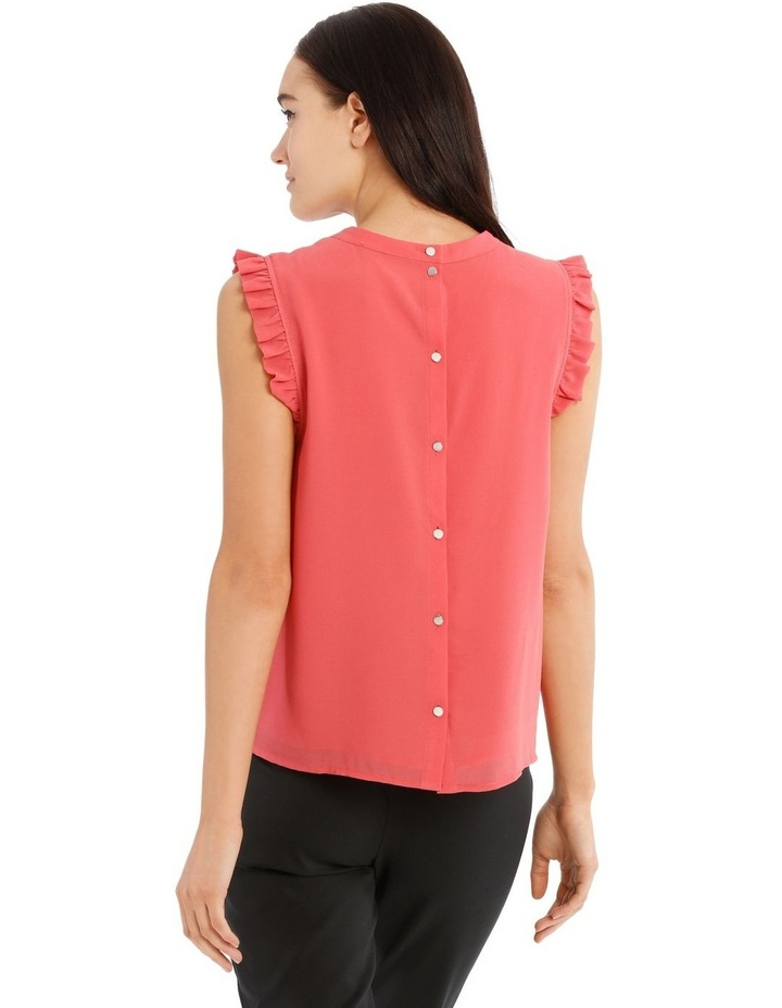 High Neck Pleat Sleeve Top image 3