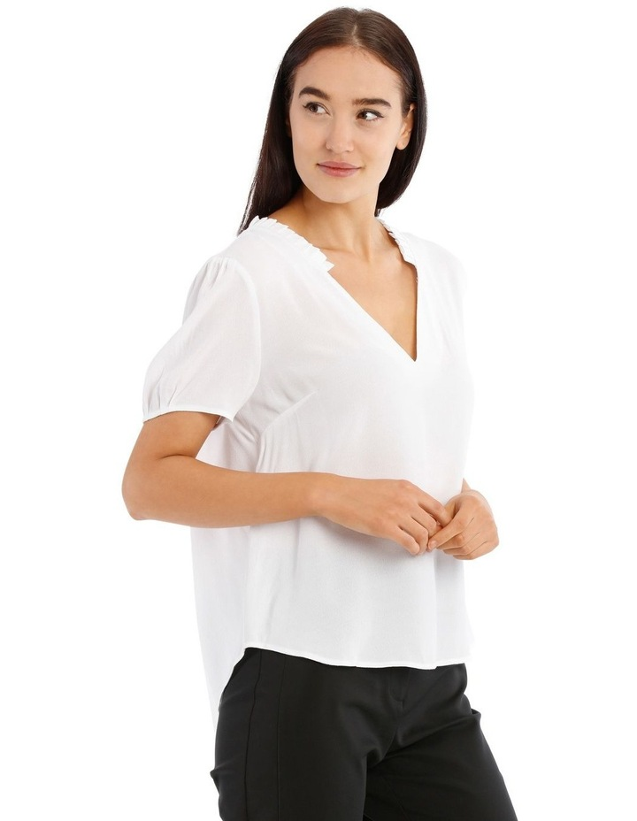 Puff Sleeve Frill Neck Top image 2
