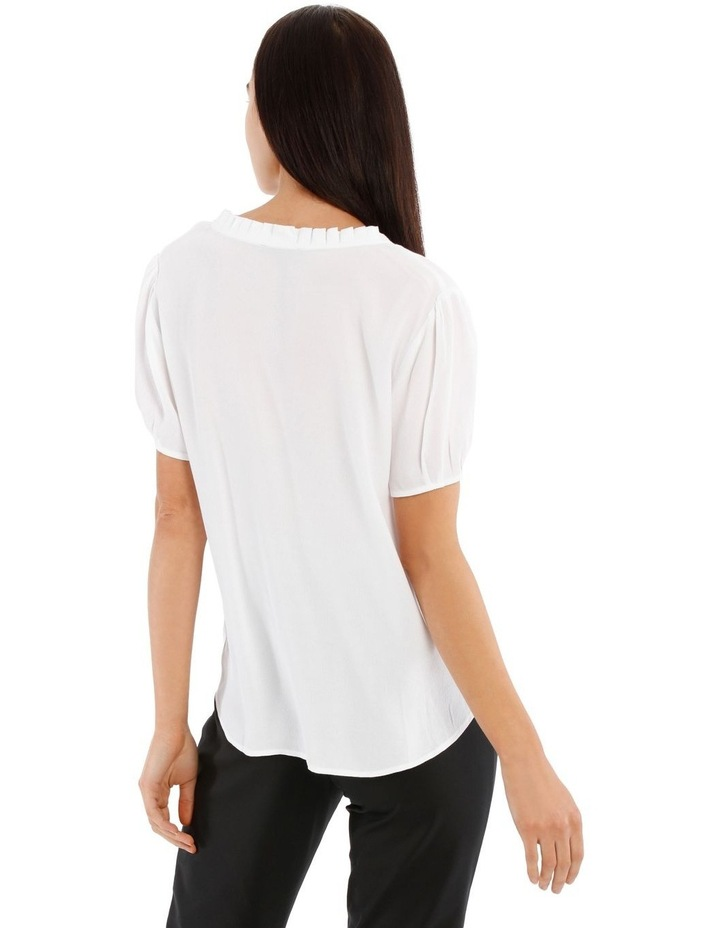 Puff Sleeve Frill Neck Top image 3