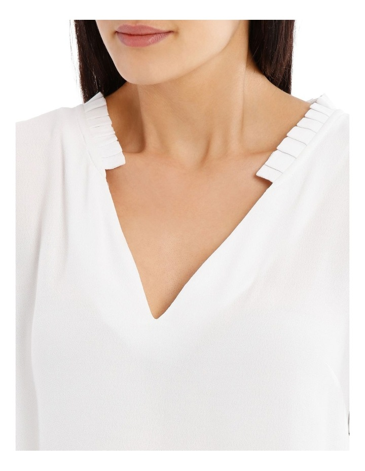 Puff Sleeve Frill Neck Top image 4