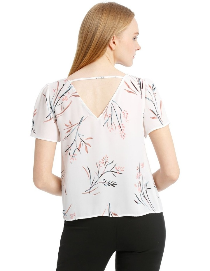 Open Back Flutter Sleeve Top image 3