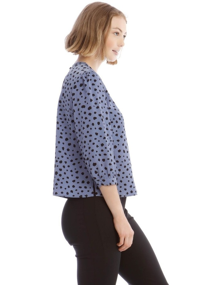 High Neck Puff Sleeve Top image 2