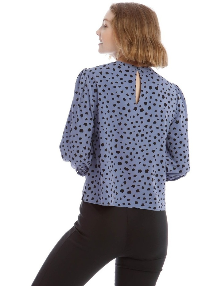 High Neck Puff Sleeve Top image 3