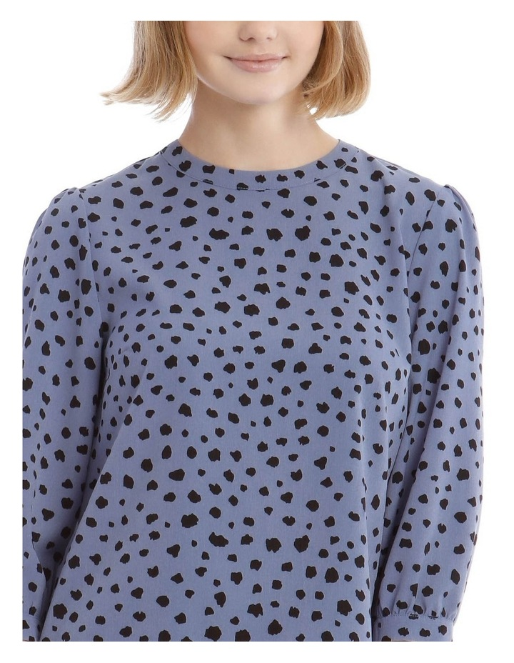 High Neck Puff Sleeve Top image 4