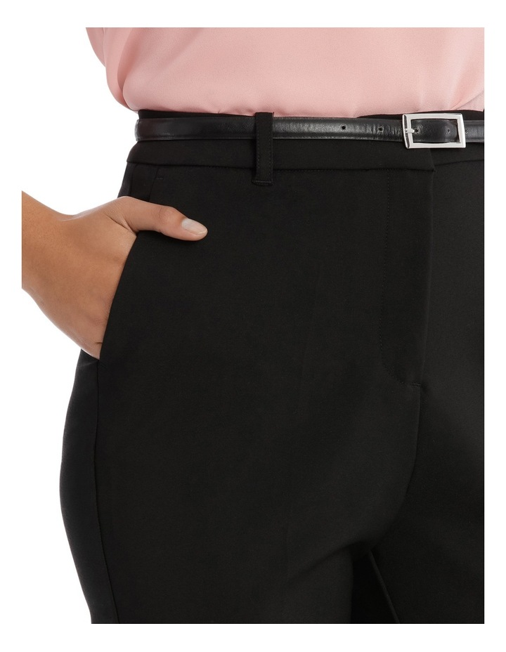 Straight Leg Belted Pant - Black image 4