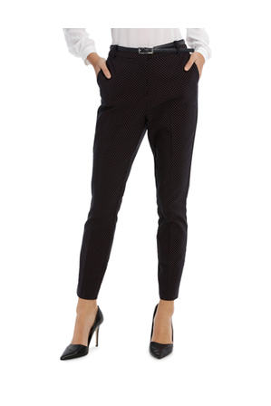 Tokito Petites - Straight Leg Belted Pant - Red Micro Spot