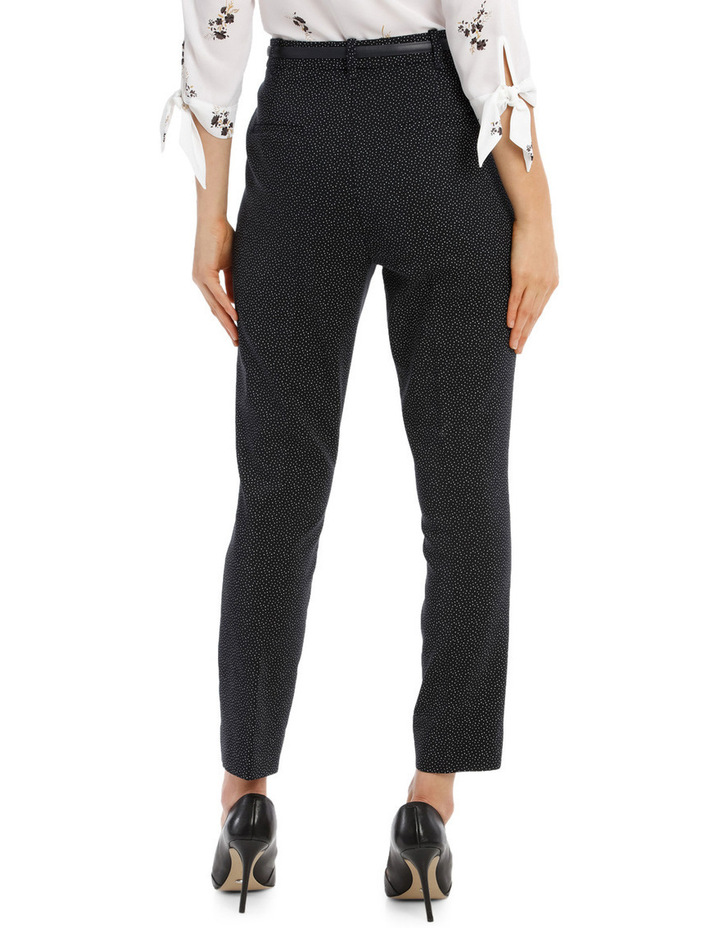 Straight Leg Belted Pant - Scattered Dot image 3