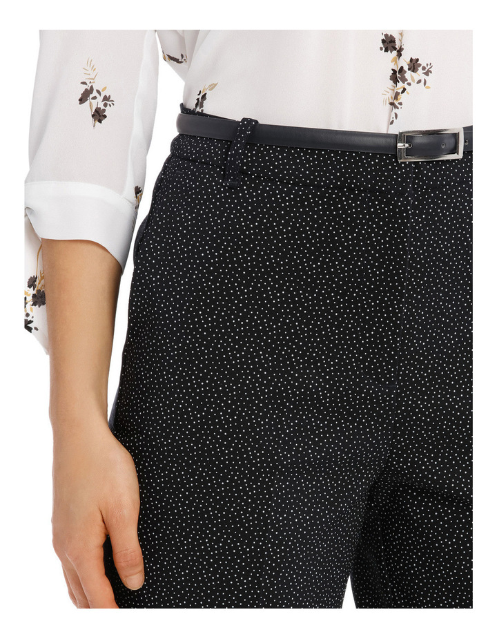 Straight Leg Belted Pant - Scattered Dot image 4