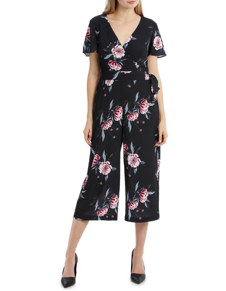 Flutter Sleeve Jumpsuit - Peony Blooms image 1