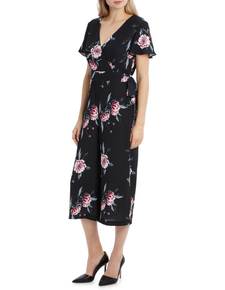 Flutter Sleeve Jumpsuit - Peony Blooms image 2