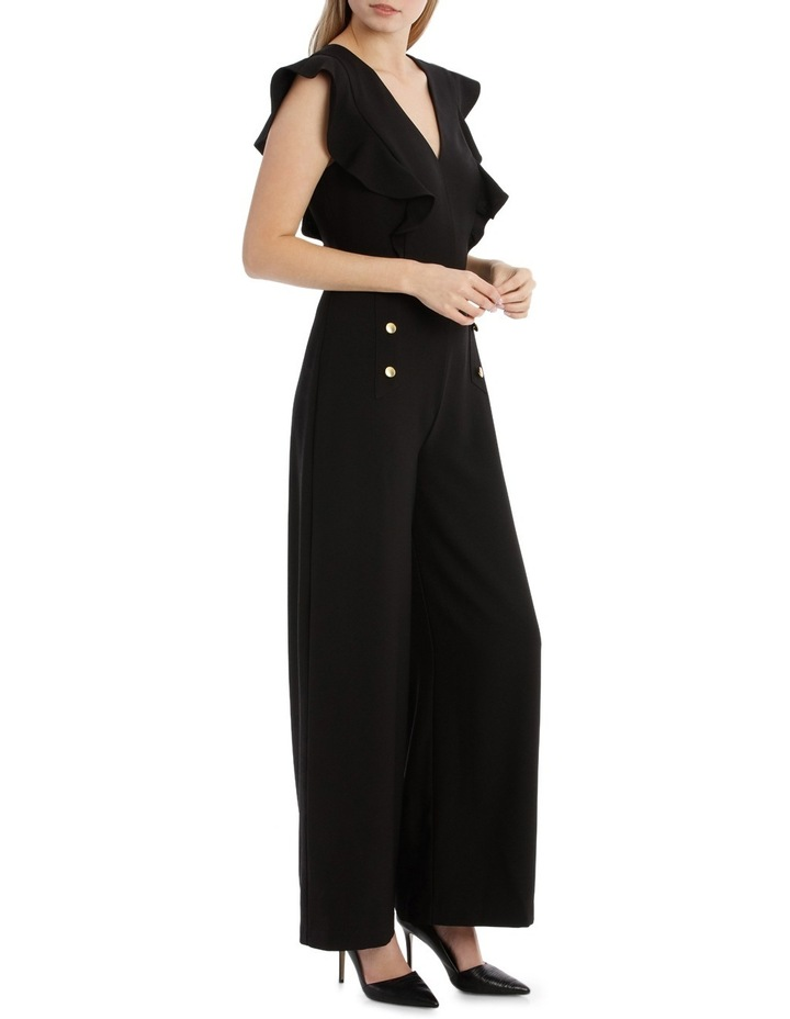Button Front Flutter Sleeve Jumpsuit image 2